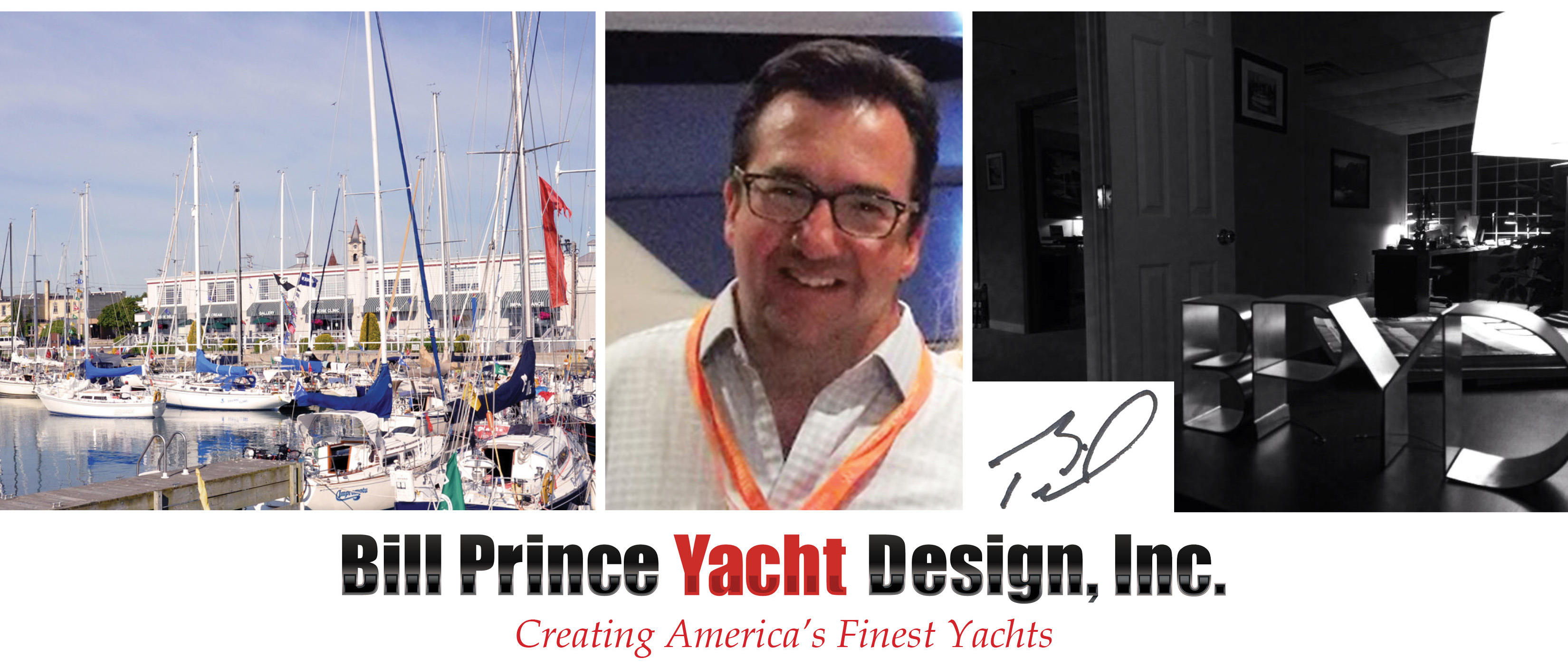 Bill Prince Yacht Design Collage